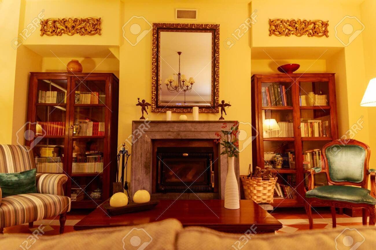 Comfortable Living Room Fireplace Beautiful And Fortable Li