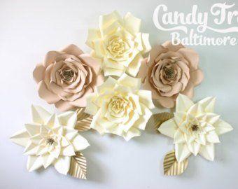 Large Paper Flower Backdrop / Giant Paper Flowers / Paper Flower Wall / Wedding Wall / Bridal shower/ premium flower wall #giantpaperflowers