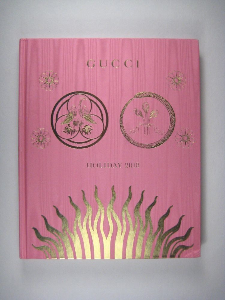 94c1a111b6 Gucci Holiday Hardcover Book 2018 Catalog Catalogue Gift Fashion and Insert  #Gucci