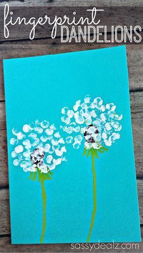 Plant Art Activity Ideas Make Dandelions Using A Fork Kids Craft