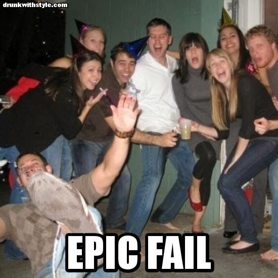 Epic Fail Funny Party Drunk Guy Falling Laughter Pinterest