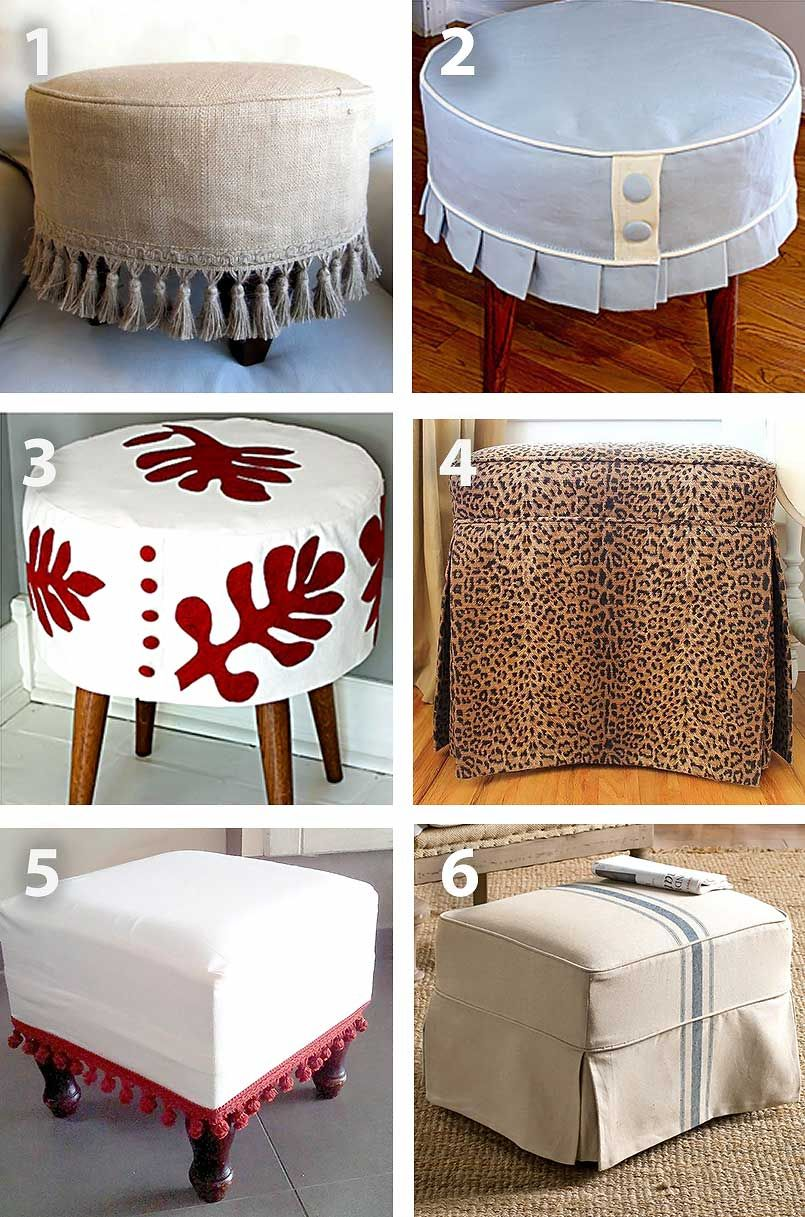 Diy Ottoman Slipcover Tutorial Sewing For Home Ottoman