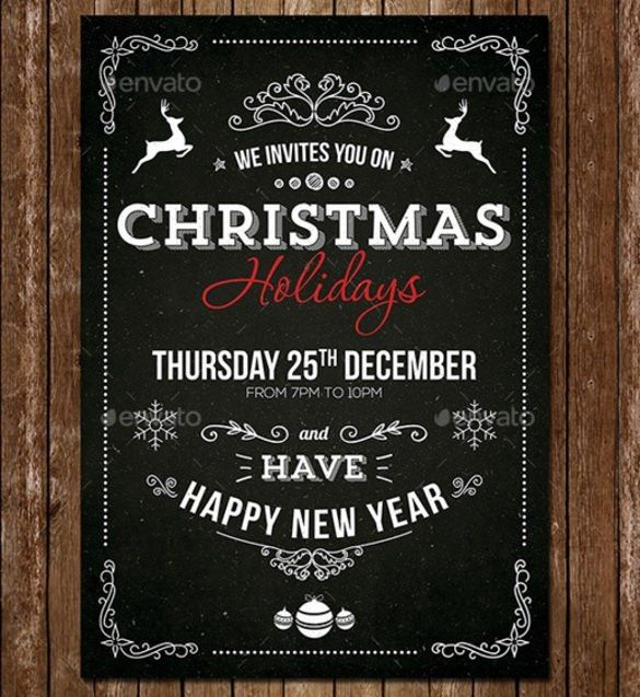 Christmas Party Invitation Template Psd