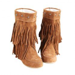 3a8b0cc822b  19.13 Causal Women s Boots With Tassels and Studs Design
