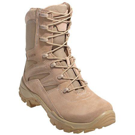 Bates Boots: 1450 Men's Tan Vibram Sole Non Metal Tactical