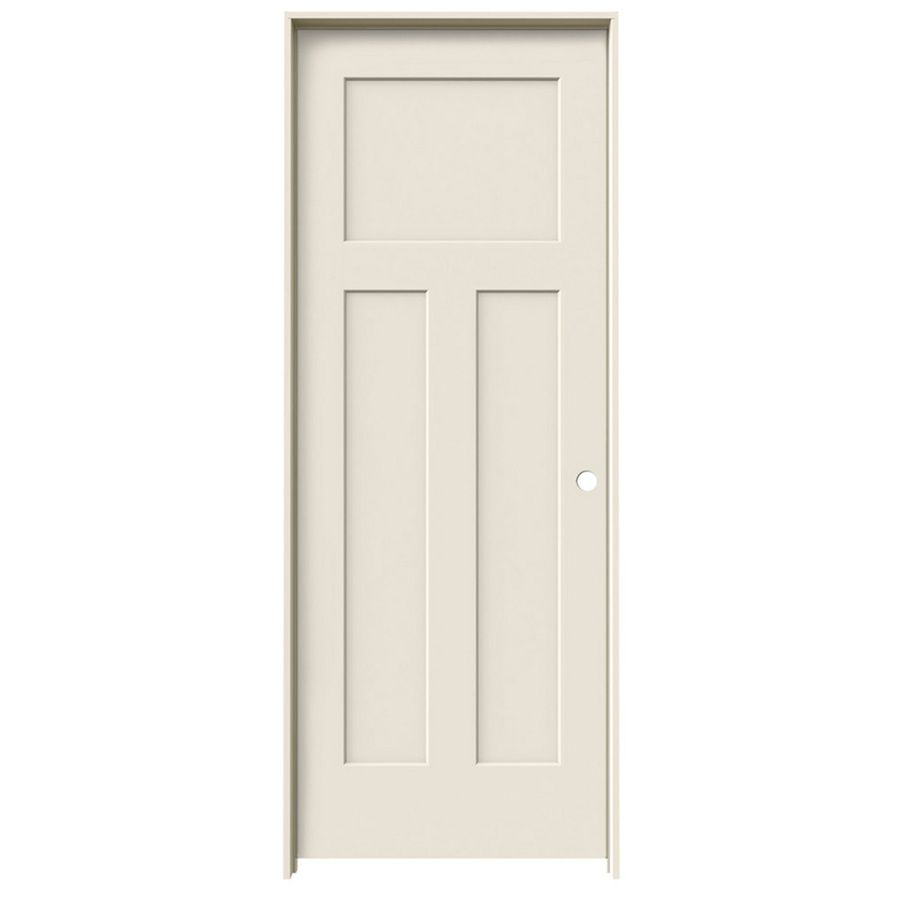 ReliaBilt Prehung Hollow Core 3 Panel Craftsman Interior Door (Common: 30 In