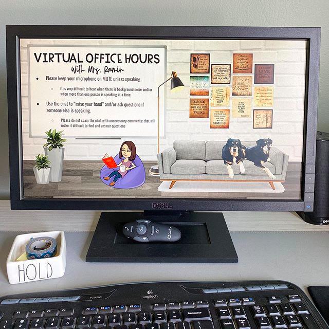 How To Create A Virtual Bitmoji Classroom In Google Slides Or Powerpoint Hello Teacher Lady Virtual Classrooms Google Classroom Online Classroom