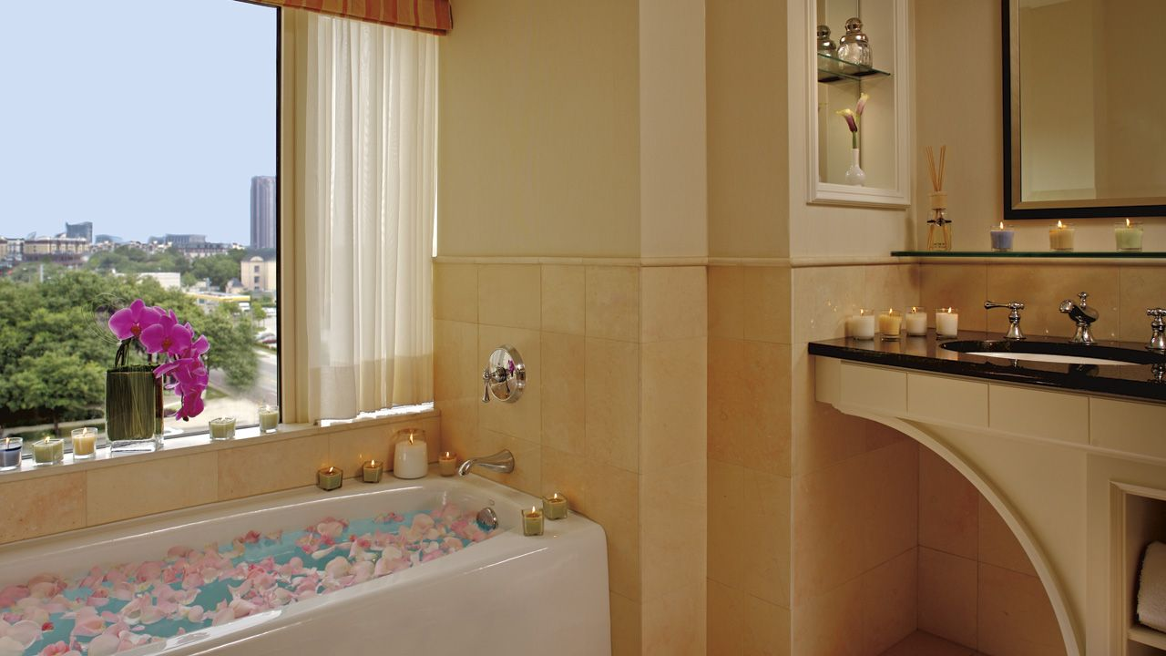 The Ritz-Carlton, Dallas features oversized five-fixture baths and ...