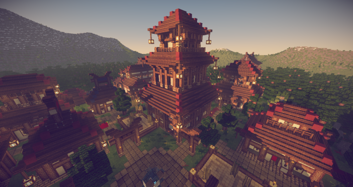 Sample Of The New Architecture Forest House Village Minecraft Projects