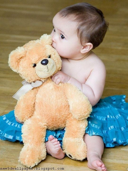 Download Cute Baby With Teddy Bear Hd K Wallpapers In X Cute Babies Baby Photos Cute Baby Penguin Children with toy hd wallpapers