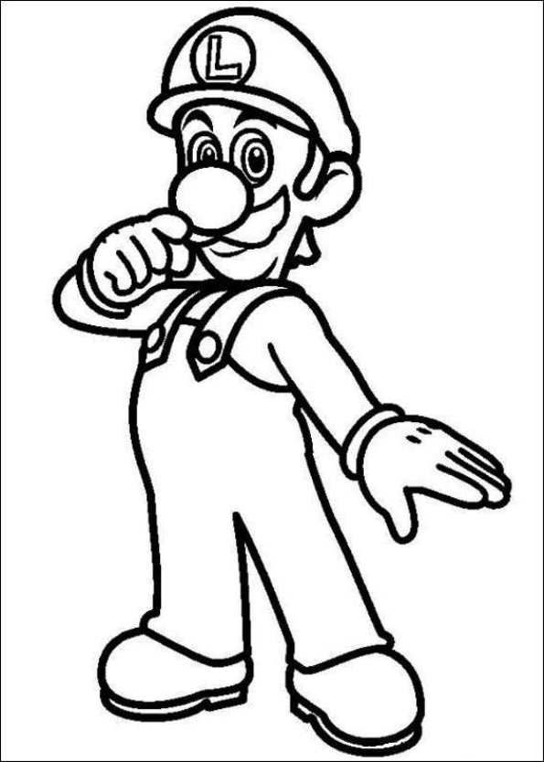 free} printable coloring page Luigi | Happy Birthday! | Pinterest