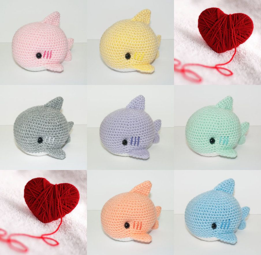 Baby Sharks by Heartstringcrochet.deviantart.com on @DeviantArt ...