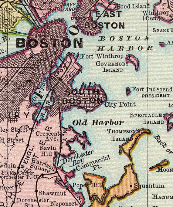 photo relating to Printable Map of Boston referred to as Antique Boston electronic map. Printable map of Boston. Boston