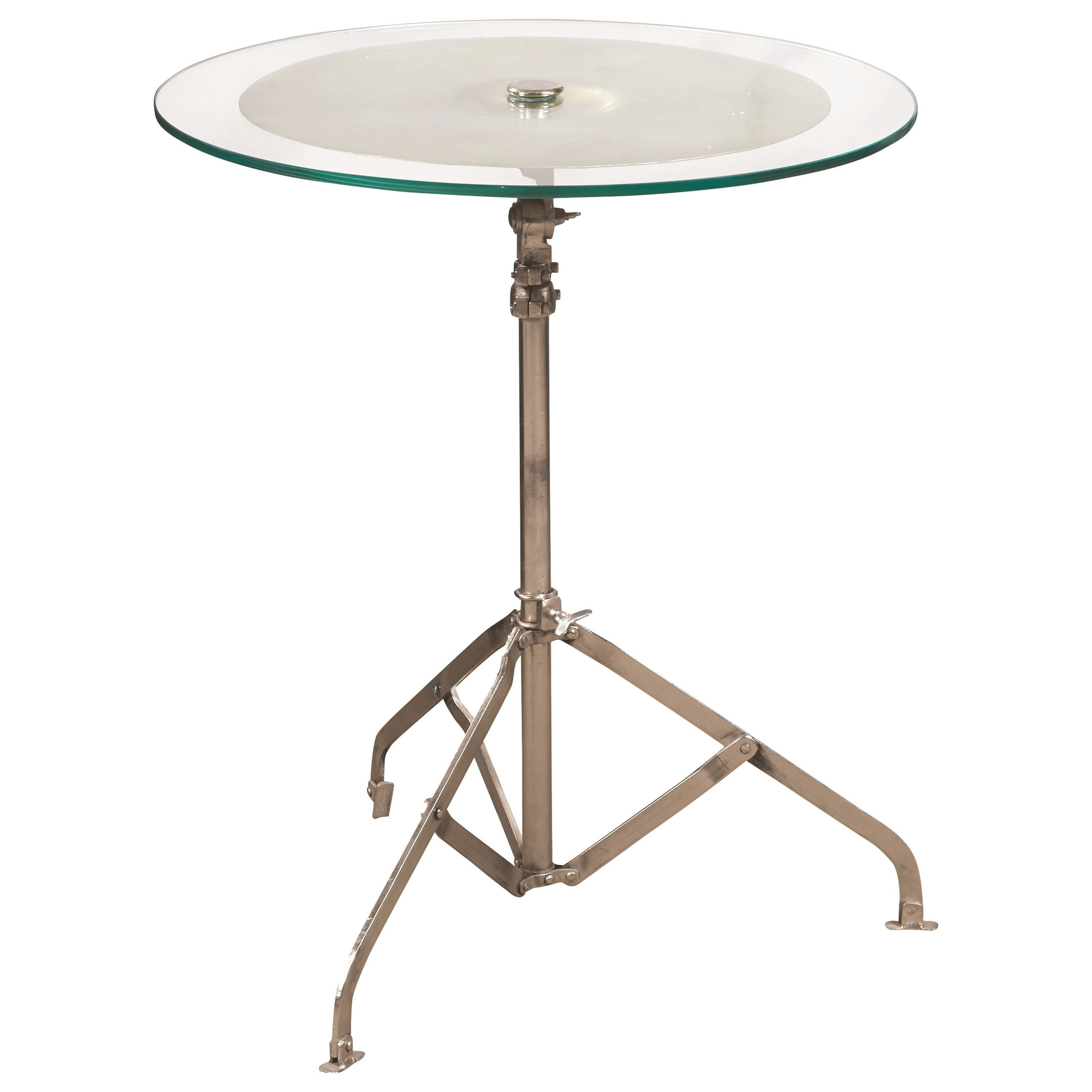 eric church adjustable height cymbal accent table by pulaski