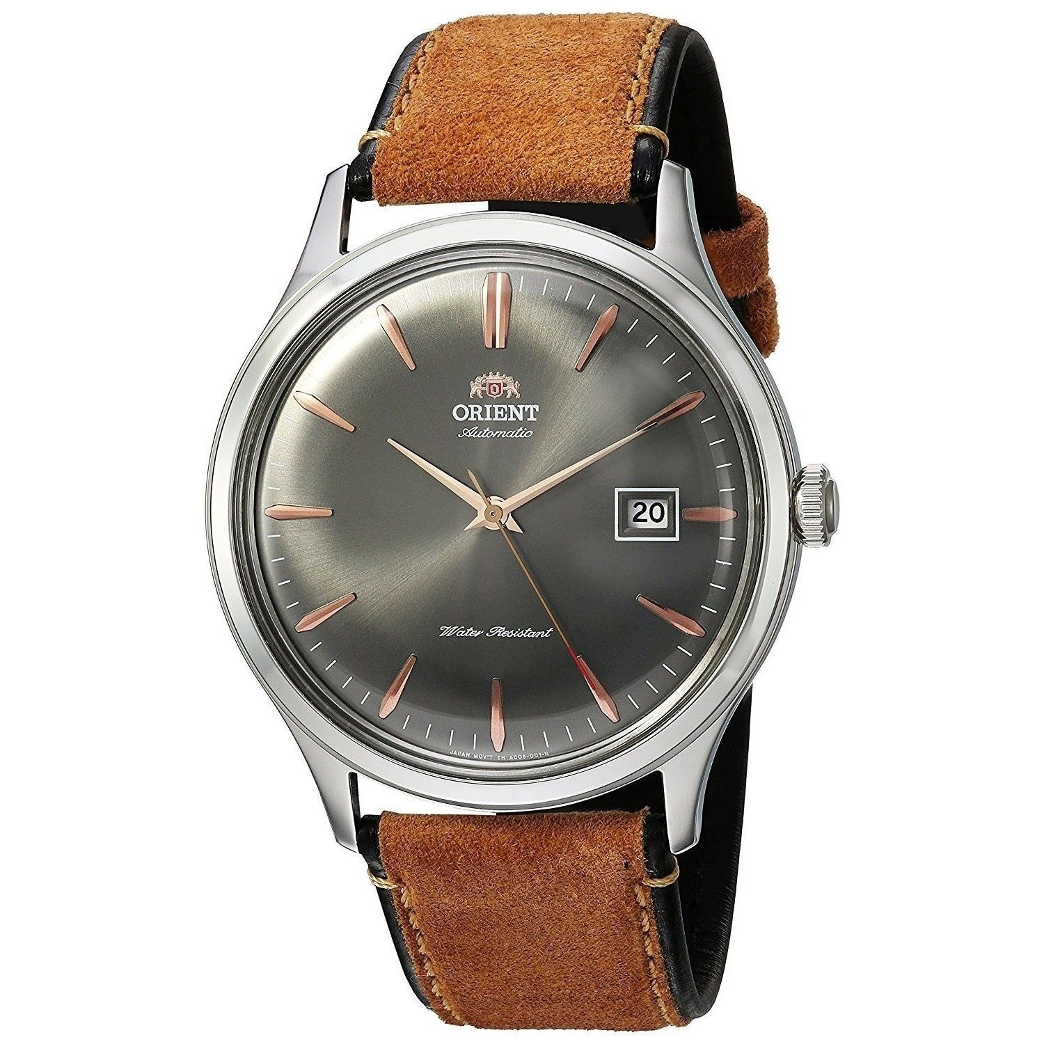 Orient Men's 'Bambino Version Size: 4' Automatic Brown Suede