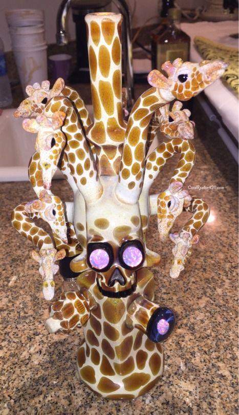 420 | Bong | Awesome | Glass | Giraffe | Bubbler | Bong Art | Weed ...