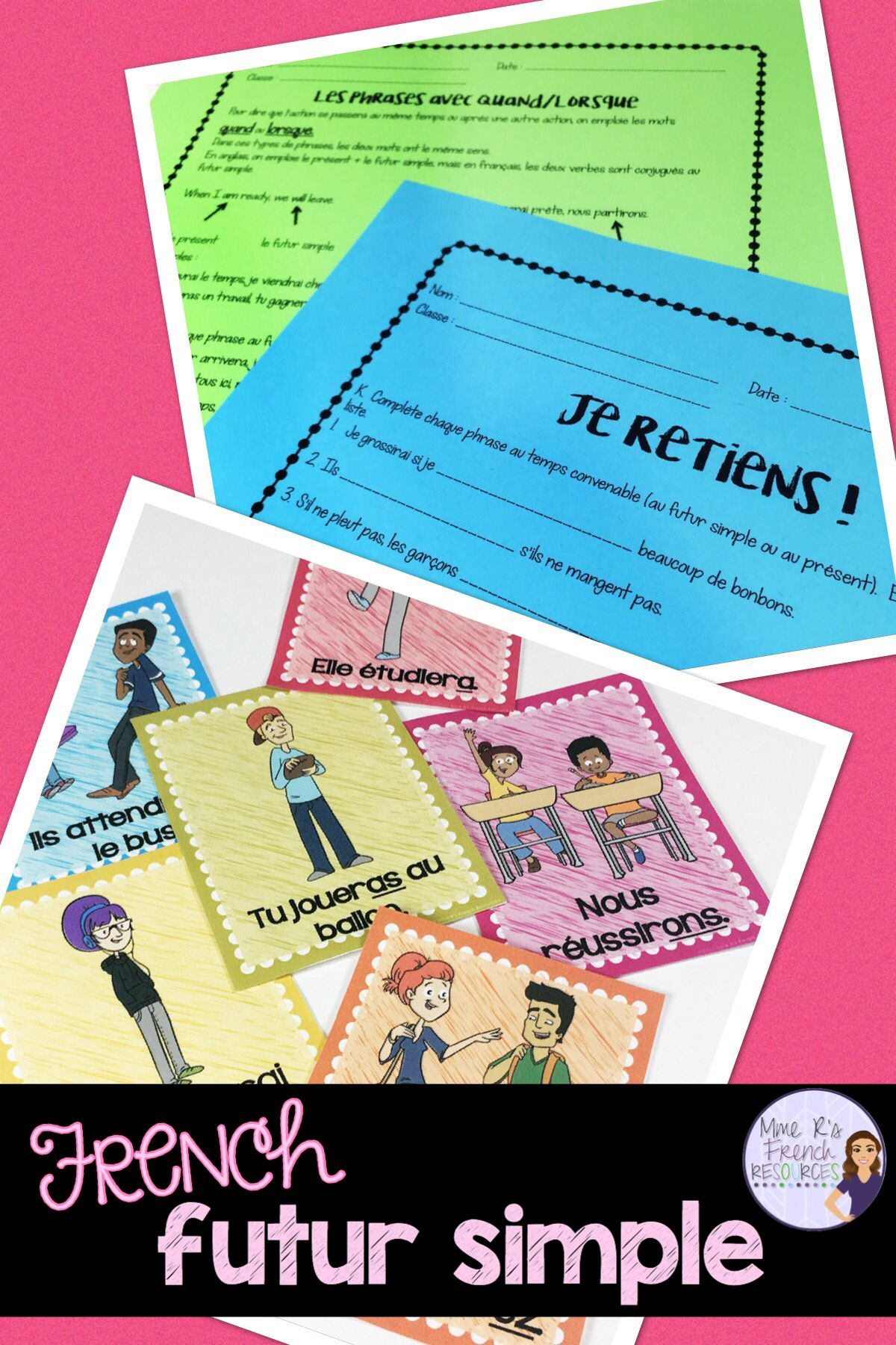 French Vocabulary And Verb Worksheets And Packets In