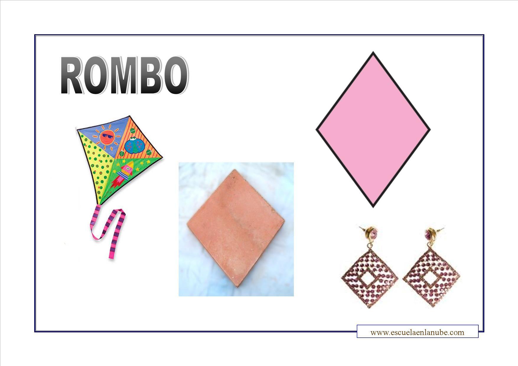 Figuras Geometricas Recursos Para Imprimir Y Trabajar Con Los Peques Fichas Para Ensenar Y Reconocer Las Distinta Figuras Geometricas Rombos Forma Geometrica