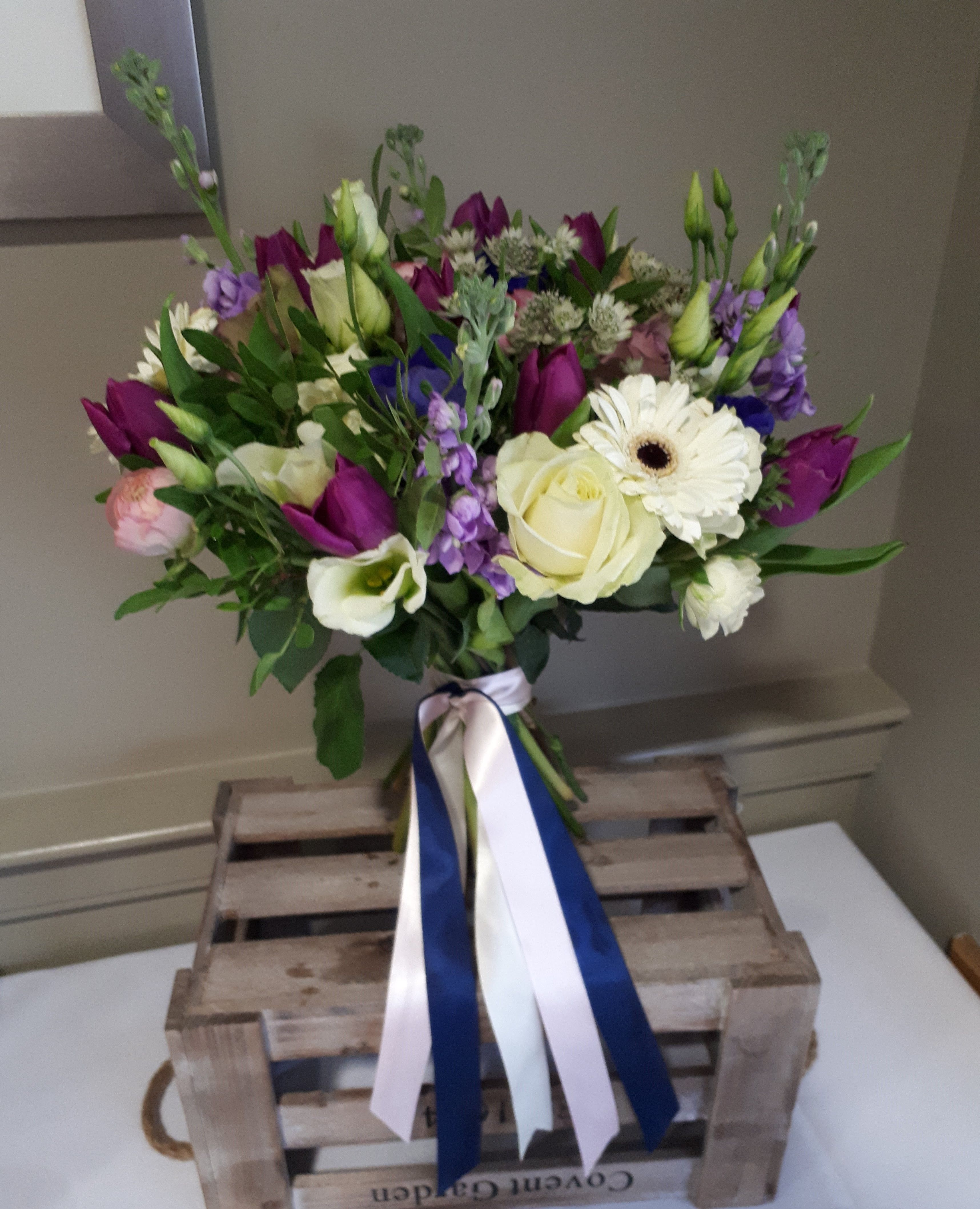Wedding Bouquet Natural Hand Tied Flowers