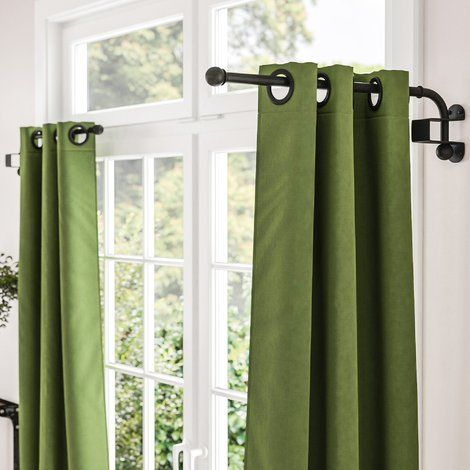 Tiquan Curtain Swing Arm Curtain Rods Cafe Curtain Rods Curtains