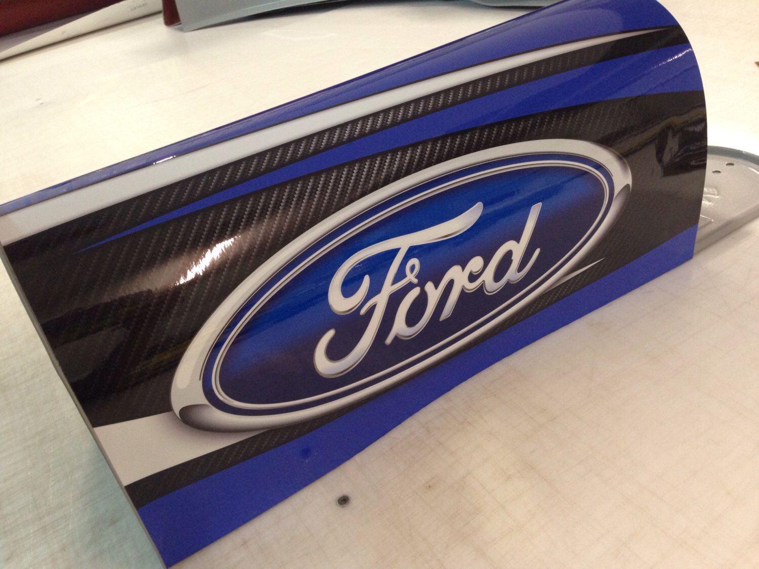 Ford mailbox etsy personalized mailbox print decals