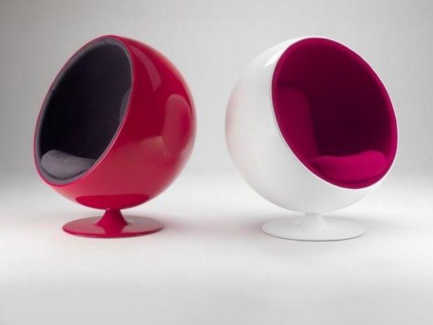 Buonissimo stato di conservazione, presentano piccoli segni di usura (come evidenziato in foto )!! Ball Chairs Meravigliosi Oggetti Di Design Sedia A Sfera Arredamento Anni 70 Design