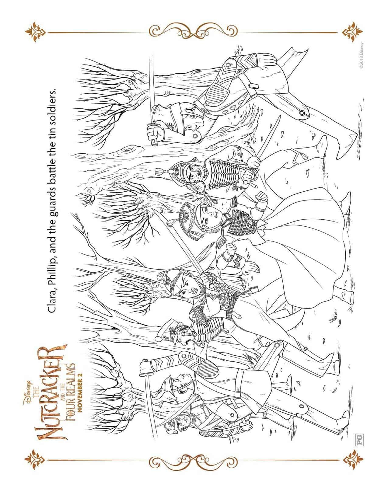 Nutcracker Coloring Page Disney S The Nutcracker And The Four