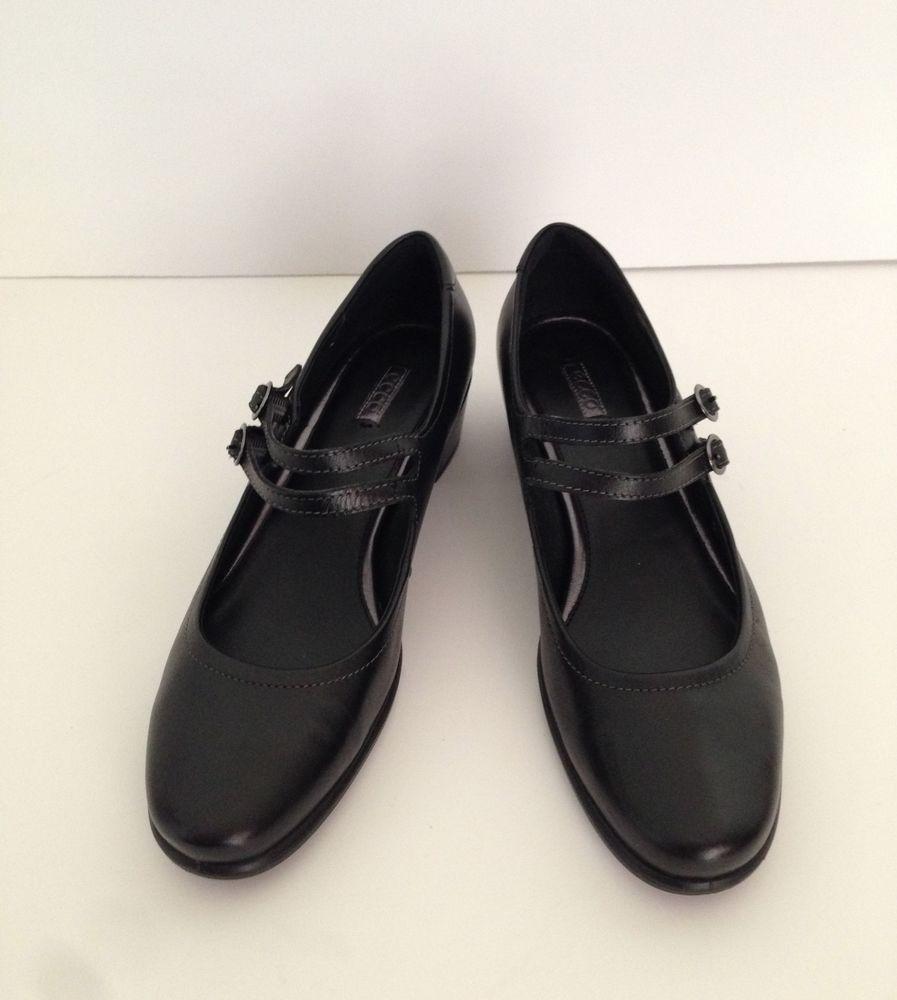 ecco  's Noir  pearl mary jane flats eur chaussure us 9.5 eur flats 4 royaume - uni 7,5 3048b5