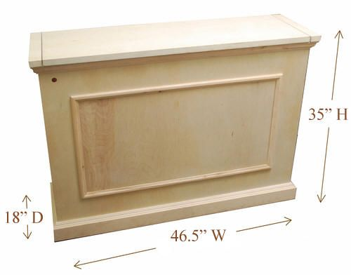 elevate unfinished motorized tv lift cabinet hidden tv