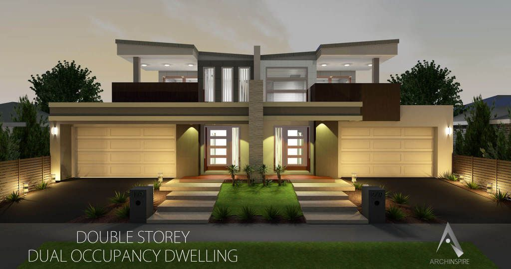 Dual Occupancy Duplex House Design Modern House Plans Duplex Design