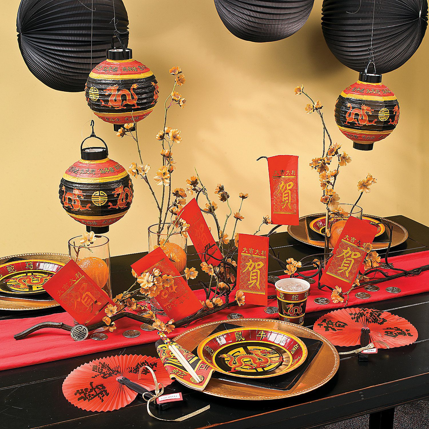Chinese New Year Table Setting - Chinese wishing tree orientaltrading com perfect for the beginning of the buffet table