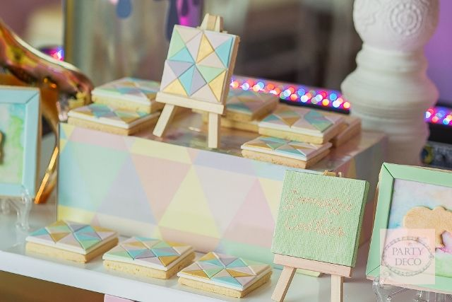 Danielle's Artsy Geometric Jungle Safari Themed Party – Sweet Treats