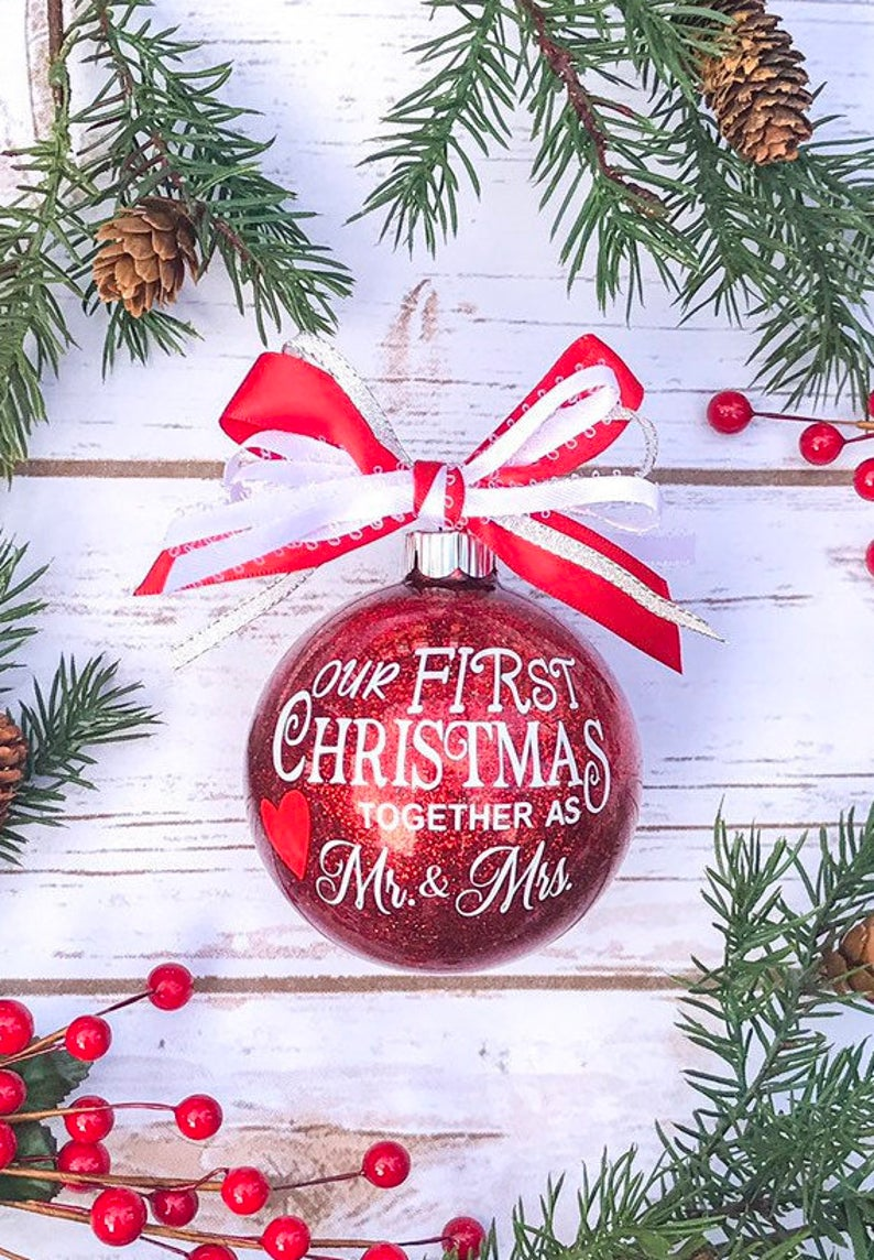First Christmas Married Ornament 2020 First Christmas As Mr and Mrs, Our First Christmas Married