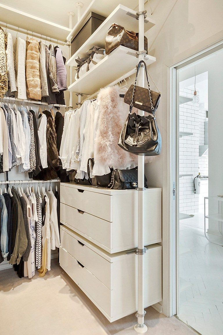 Dressing Ikea Stolmen Walk In Closet Created By Ikea Stolmen System Bedroom Storage