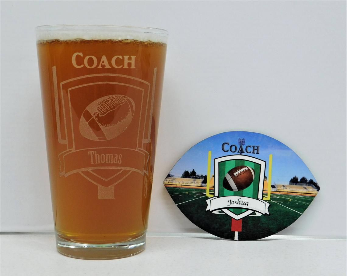 Football coach gift coach gift football coach glass and
