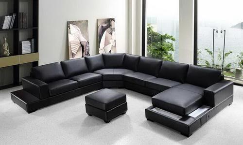Moderne Schwarz Schnitt Sofa Große - Extra Große ...