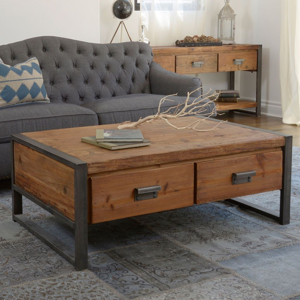 kurt coffee table | rustic coffee tables and wood coffee tables