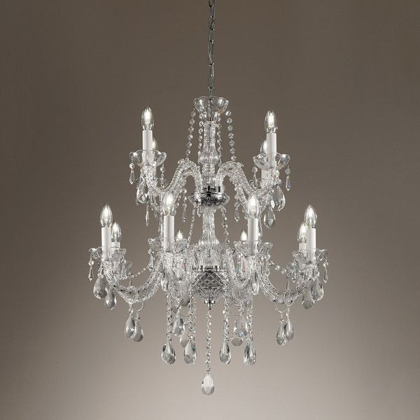Chelsom Ballroom Chandelier 12 Arm 2 420 Liked On Polyvore Featuring Home Lighting Ceiling Lights Silver Haloge Ceiling Lights Chandelier Halogen Lamp