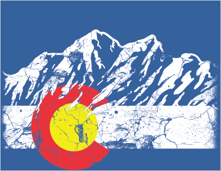 Colorado flag sticker car window decal white2