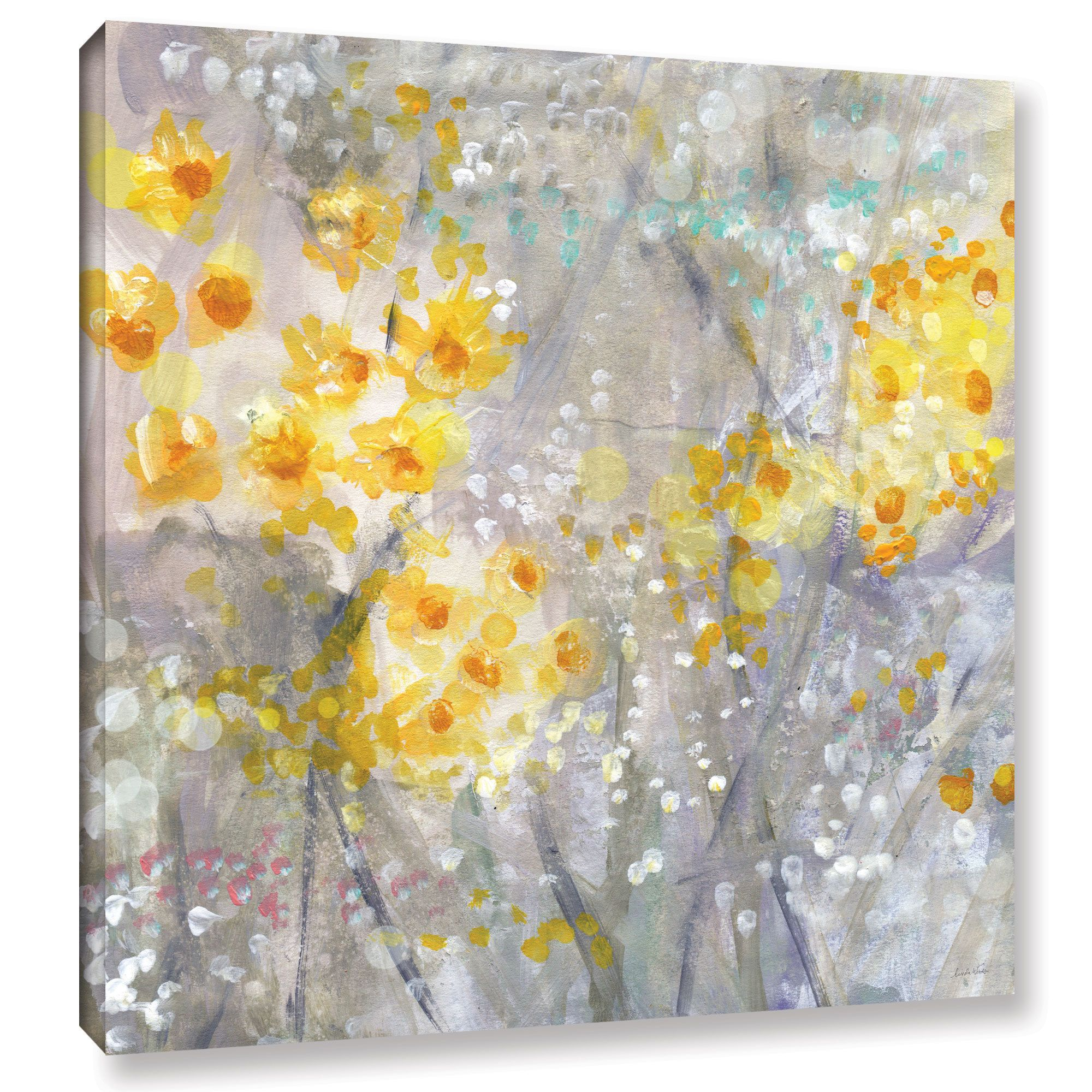 ArtWall Linda Woods\'s \'Dusty Miller \' Gallery Wrapped Canvas ...