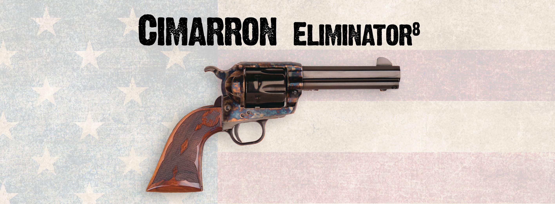 Cimarron Eliminator 8 Octagon barrel, short stroke, checkered Army