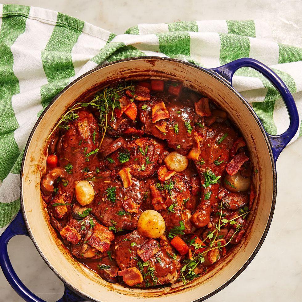 Coq Au Vin Will Make You Feel Like Julia Child Recipe In 2020 Coq Au Vin Recipes Cooking