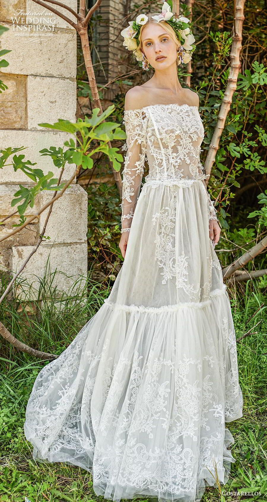 Costarellos Spring 2019 Wedding Dresses Wedding Inspirasi Summer Wedding Dress Bohemian Wedding Dresses Gorgeous Wedding Dress [ 1688 x 900 Pixel ]