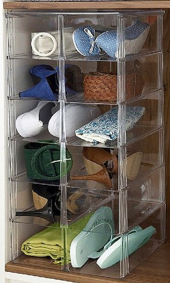 Shoe Storage: Open Stackable Cubby