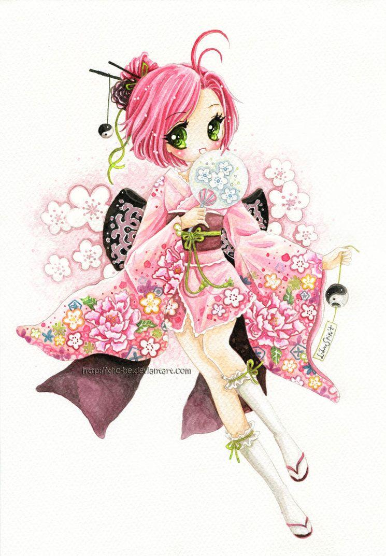 :C: Kimono Girl By Tho-be On DeviantArt