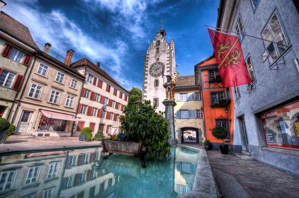 Siegelturm in der Altstadt von Diessenhofen TG -
