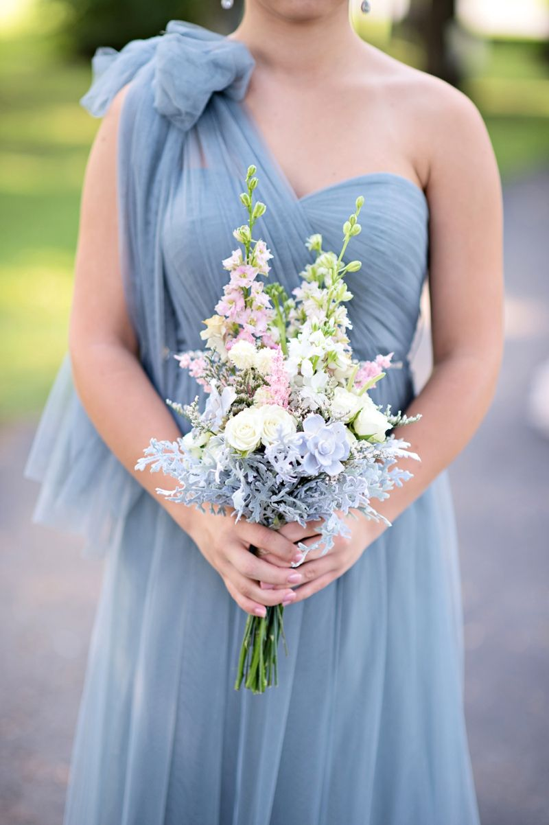 Romantic Blush And Blue Nashville Wedding Blue Blush Wedding