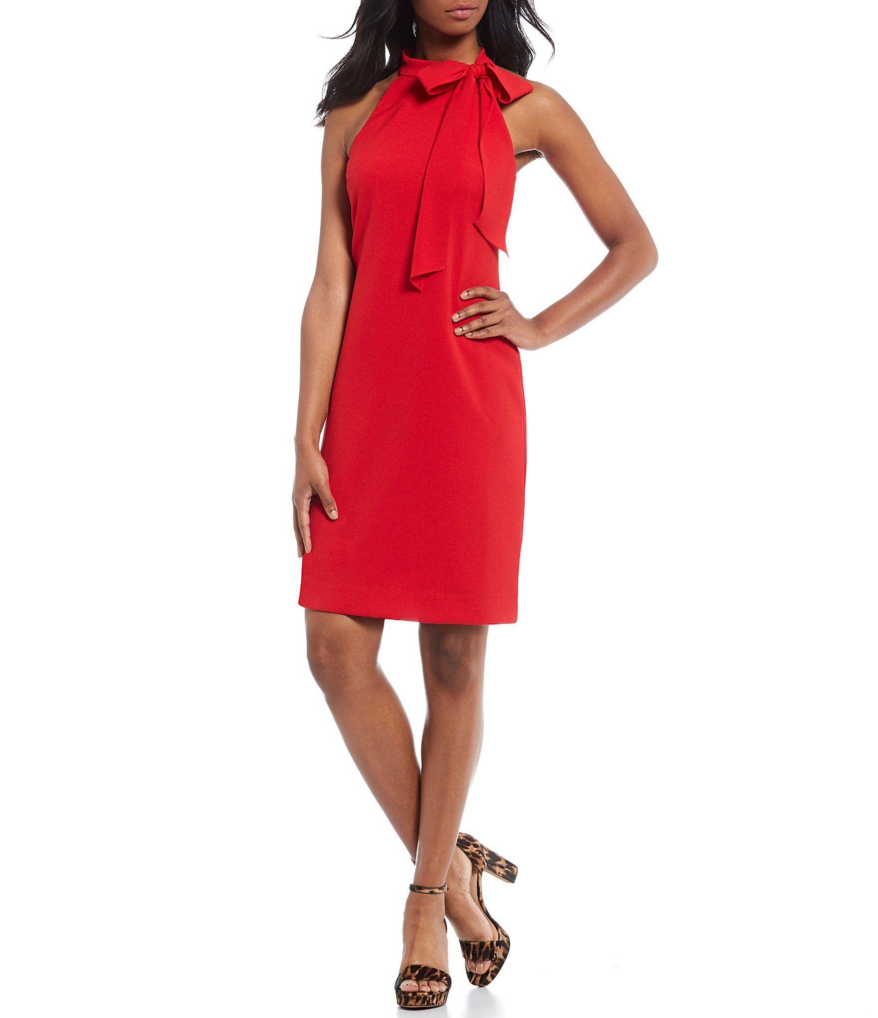 Vince Camuto Halter Neck Sleeveless Shift Dress Dillard S Red Shift Dress Shift Dress Sleeveless Shift Dress [ 2040 x 1760 Pixel ]