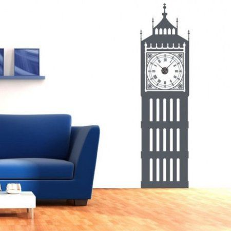 Style and Apply Big Ben Wall Clock Wall Decal Walmart