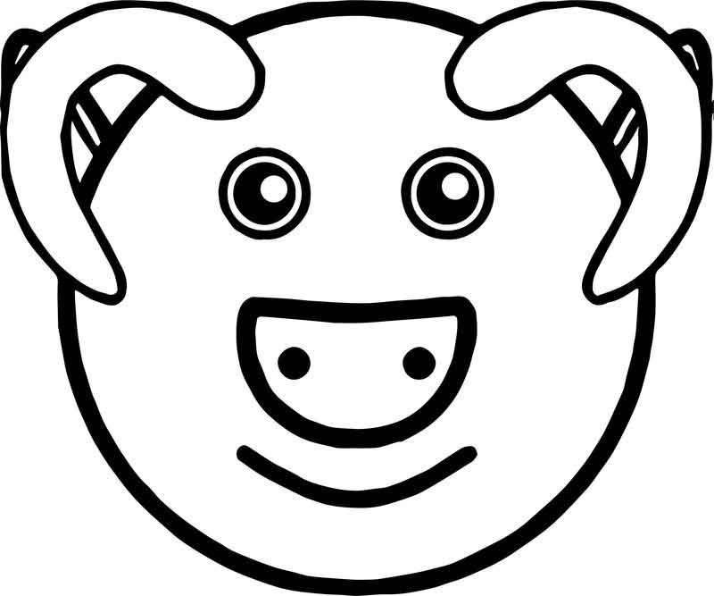 Baby Farm Pig Face Animal Coloring Page Pig Farming Animal